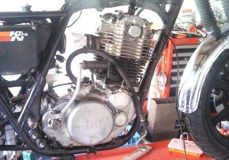 Motor endlich wieder im Rahmen