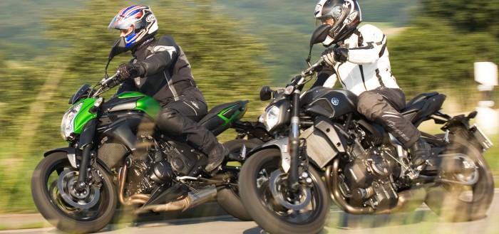 Kawasaki-ER6n und Yamaha-MT07