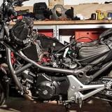 Die nackte Honda NC700